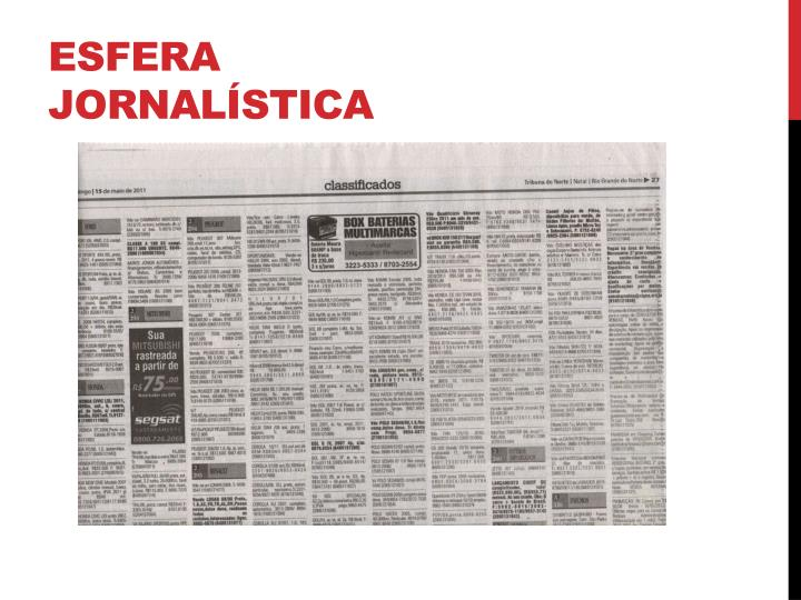 Esfera jornalística