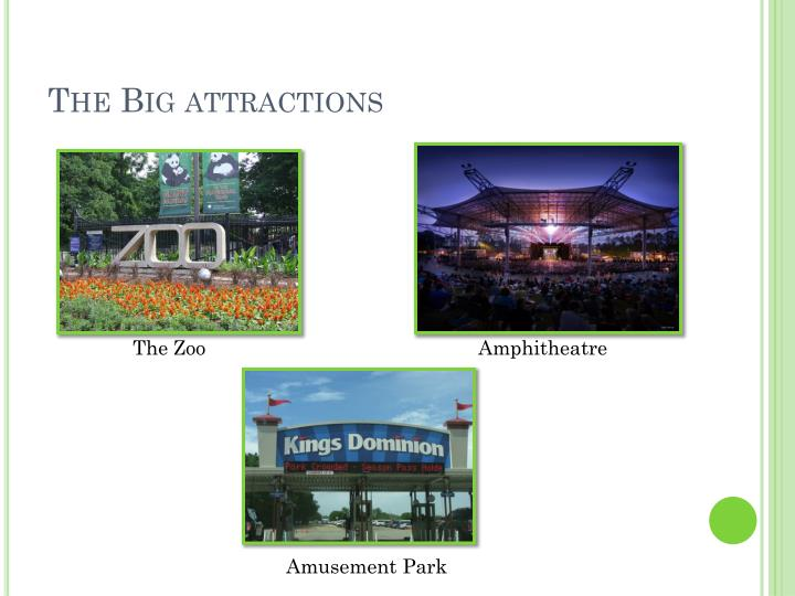 The Big attractions