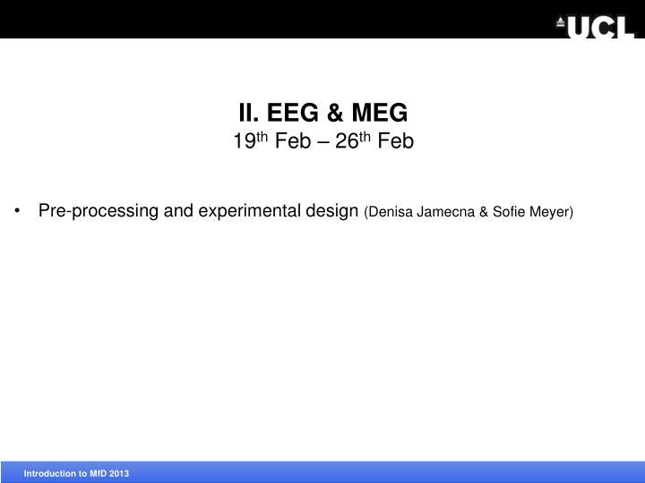 II. EEG & MEG