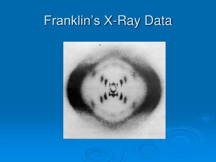 Franklin's X-Ray Data
