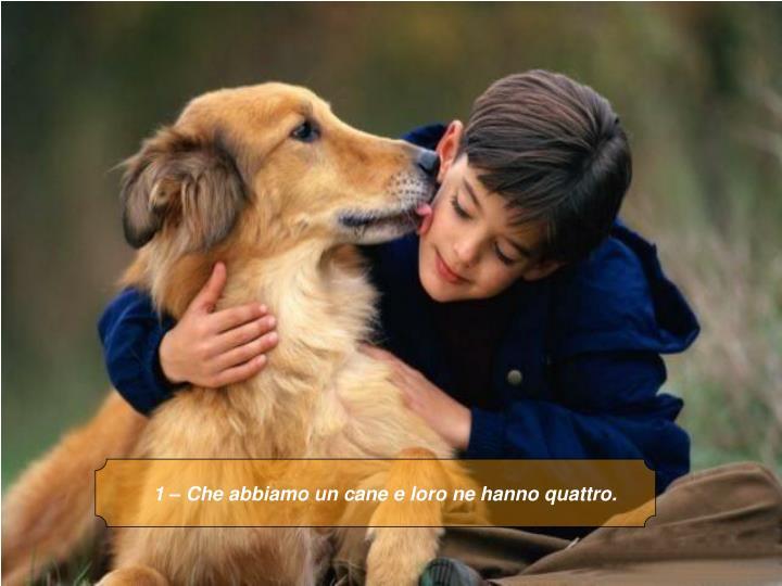 1 – Che abbiamo un cane e loro ne hanno quattro