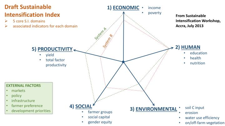 Draft Sustainable Intensification Index