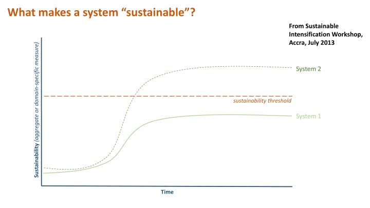 """What makes a system """"sustainable""""?"""