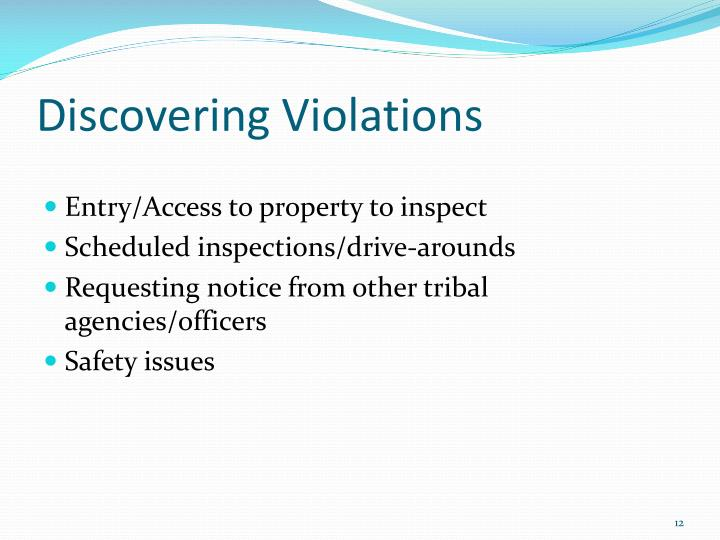 Discovering Violations