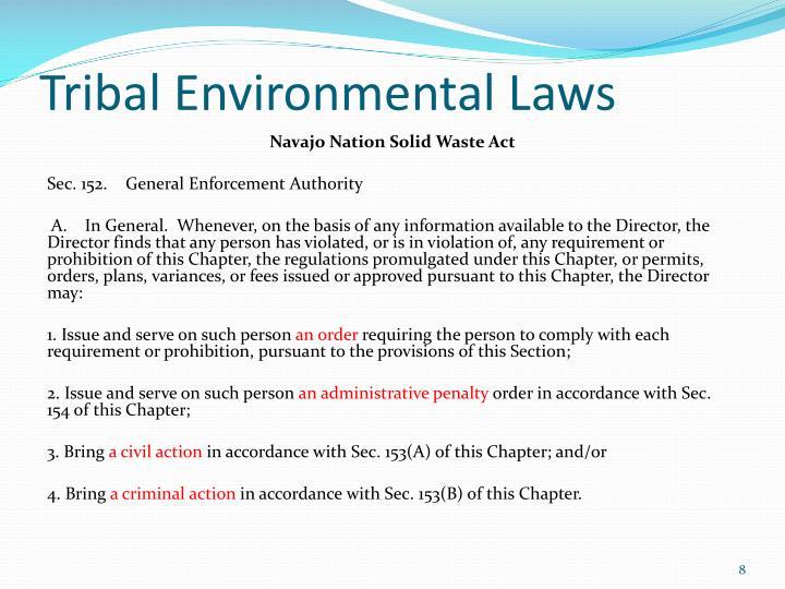 Tribal Environmental Laws