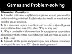 games and problem solving