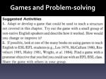 games and problem solving1