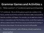 grammar games and activities 11