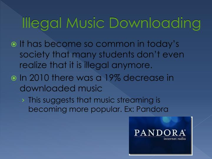Illegal Music Downloading
