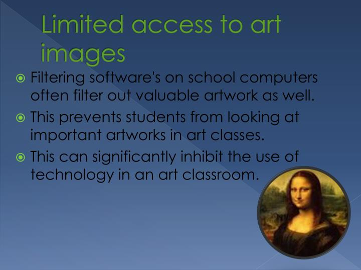 Limited access to art images