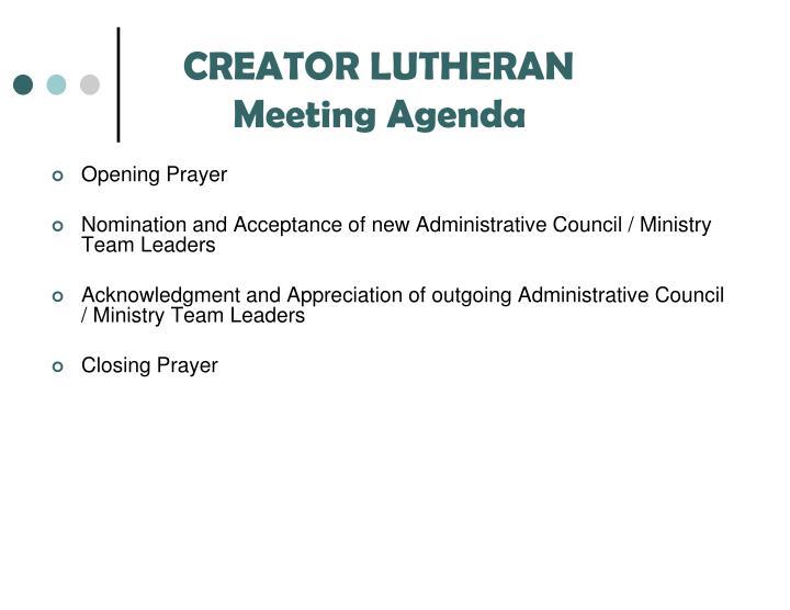 CREATOR LUTHERAN