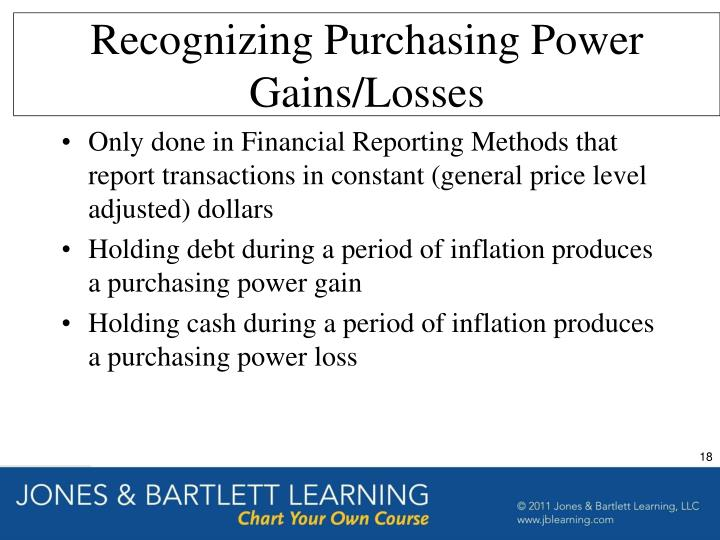 Recognizing Purchasing Power Gains/Losses