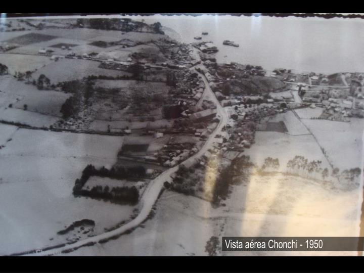 Vista aérea Chonchi - 1950
