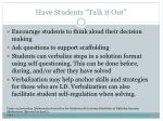 have students talk it out