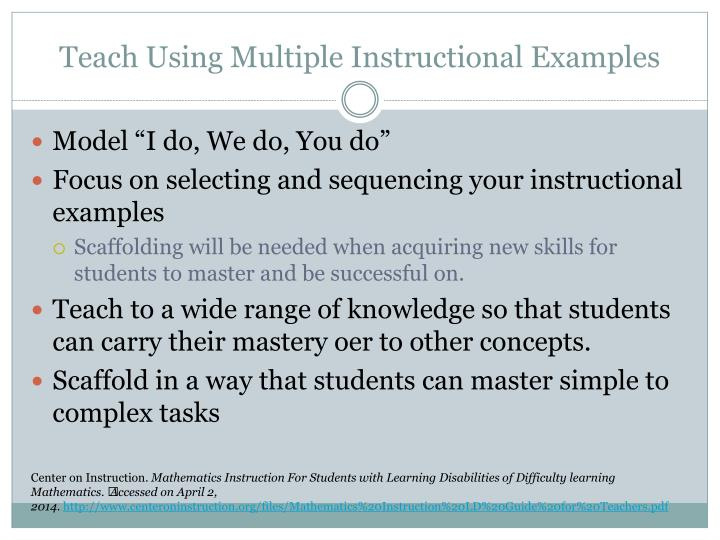 Teach Using Multiple Instructional Examples