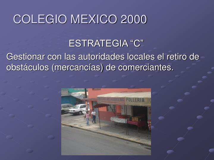 COLEGIO MEXICO 2000
