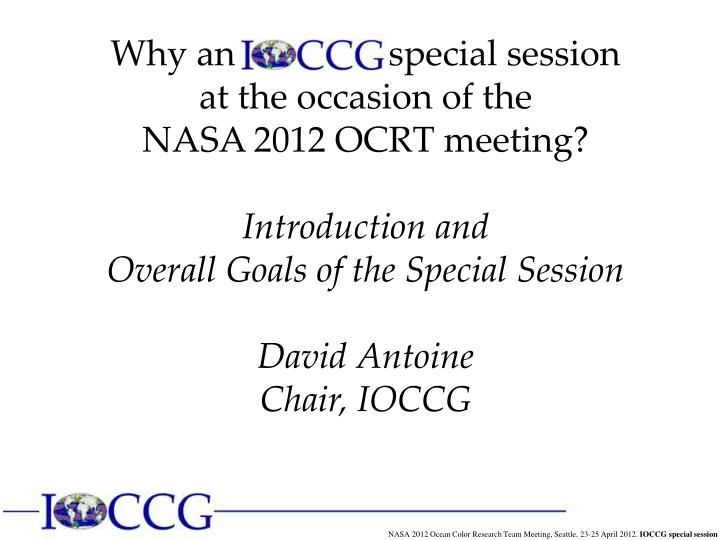Why an                 special session