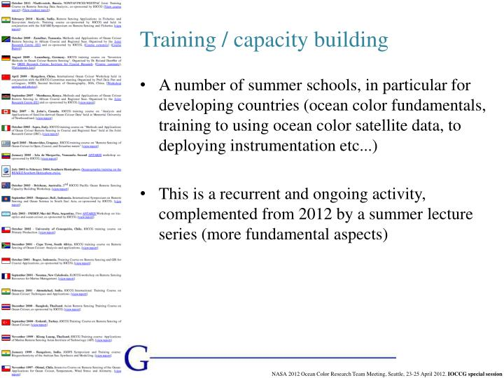 Training / capacity building