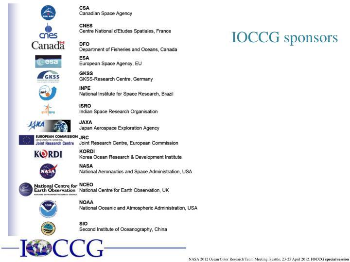 IOCCG sponsors