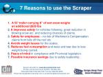 7 reasons to use the scraper