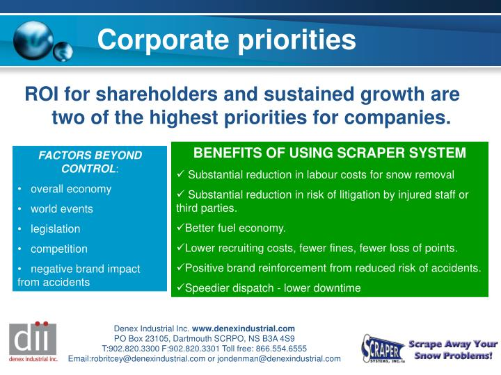 ROI for shareholders and sustained growth are two of the highest priorities for companies.