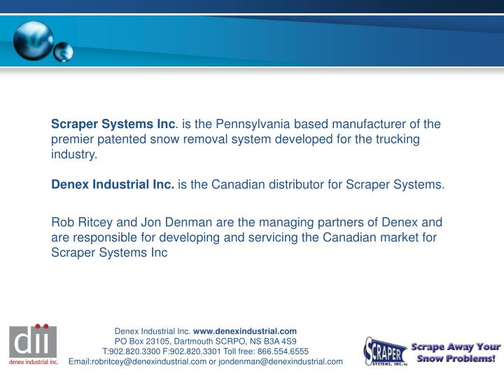 Scraper Systems Inc
