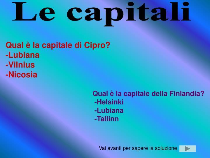 Le capitali
