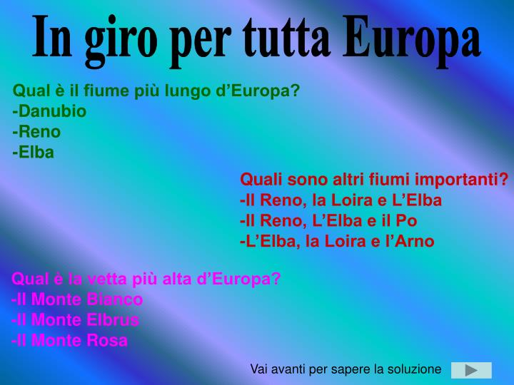 In giro per tutta Europa