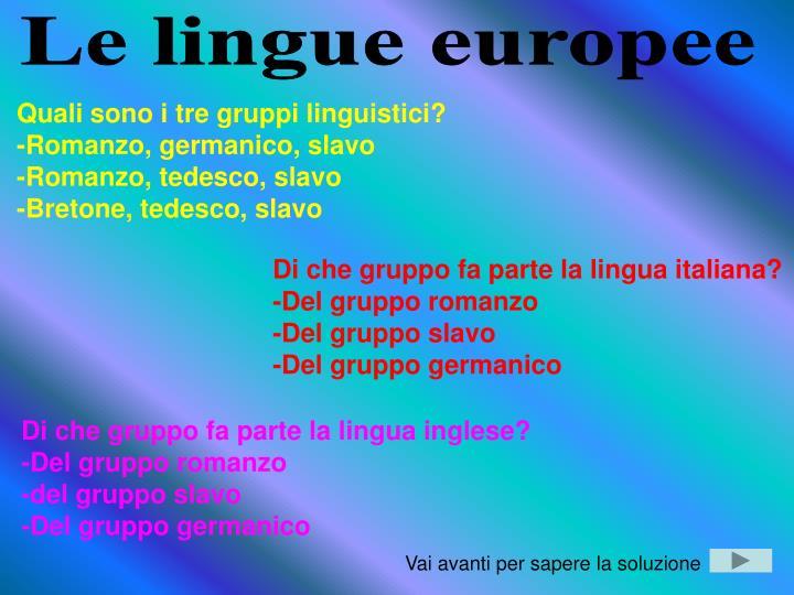 Le lingue europee