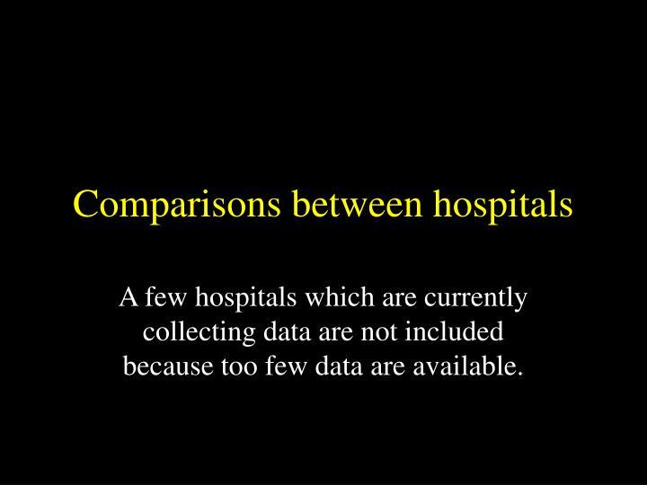 Comparisons between hospitals