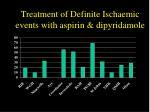 treatment of definite ischaemic events with aspirin dipyridamole