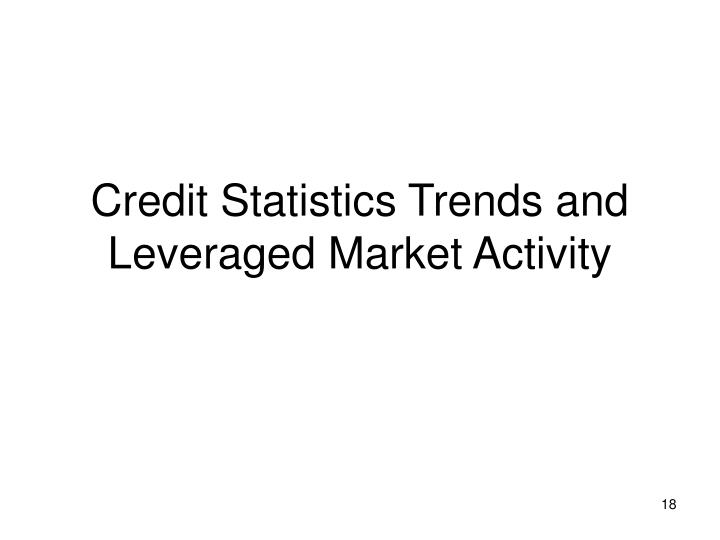 Credit Statistics Trends and Leveraged Market Activity