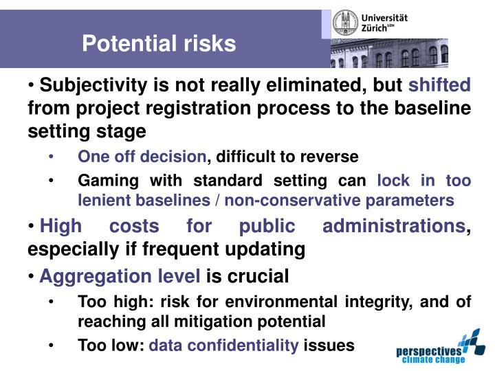 Potential risks
