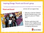 inspiring change munch and crunch group1
