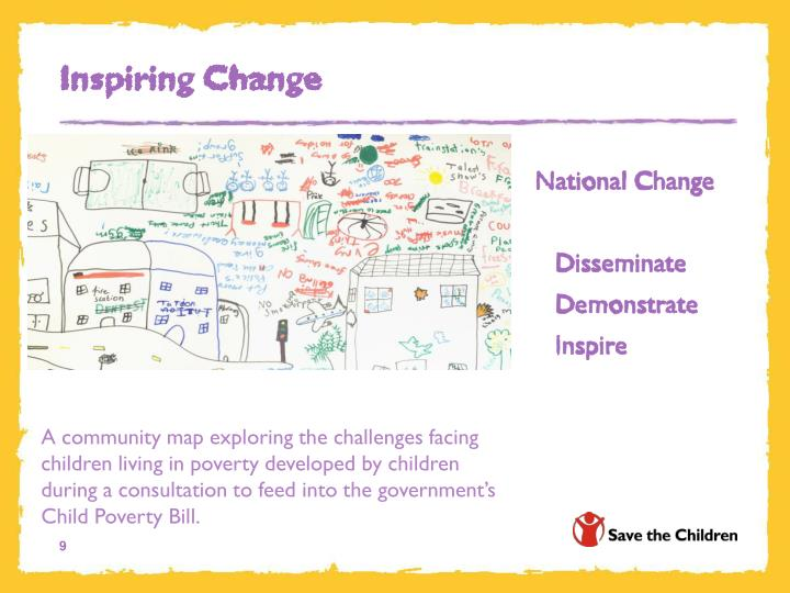 A community map exploring the challenges facing children living in poverty developed by children during a consultation to feed into the government's Child Poverty Bill.