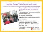 inspiring change wilberforce school group