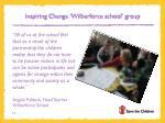 inspiring change wilberforce school group1