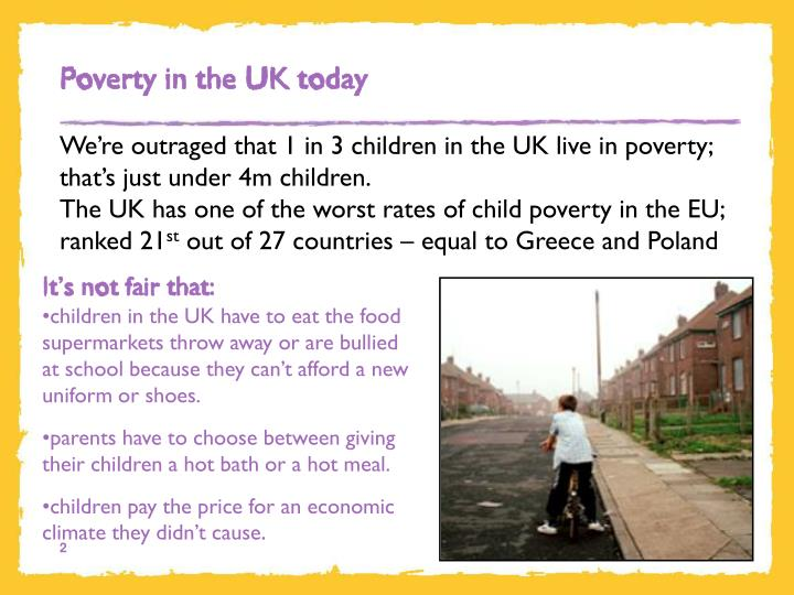 Poverty in the UK today