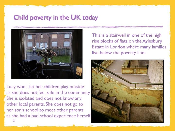 Child poverty in the UK today