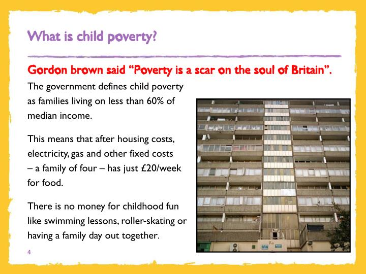 What is child poverty?