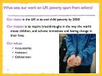 what sets our work on uk poverty apart from others