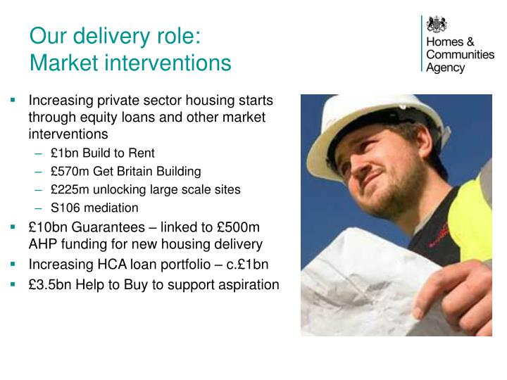 Our delivery role: