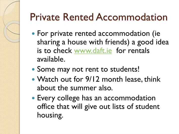 Private Rented Accommodation