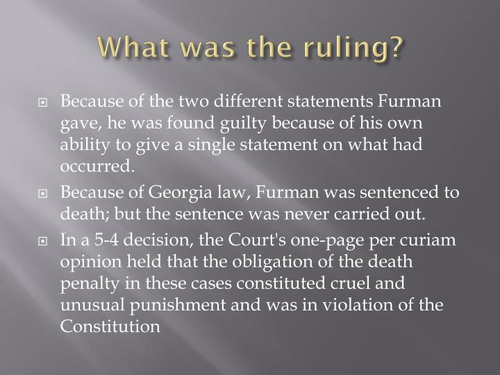 What was the ruling?