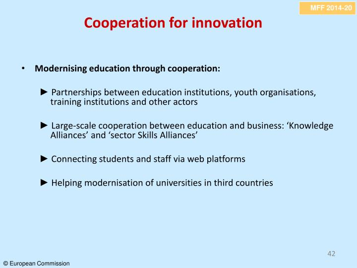 Cooperation for innovation