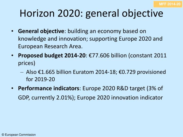 Horizon 2020: general objective
