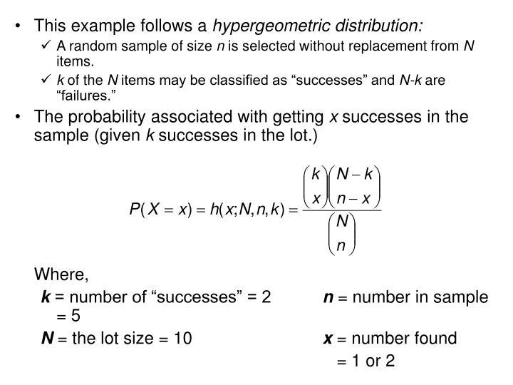 This example follows a