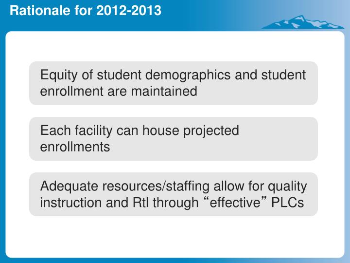 Equity of student demographics and student enrollment are maintained