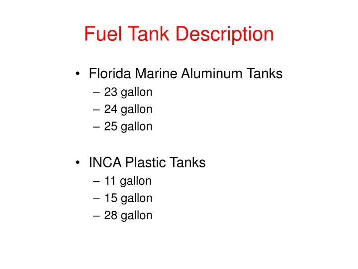 Fuel Tank Description