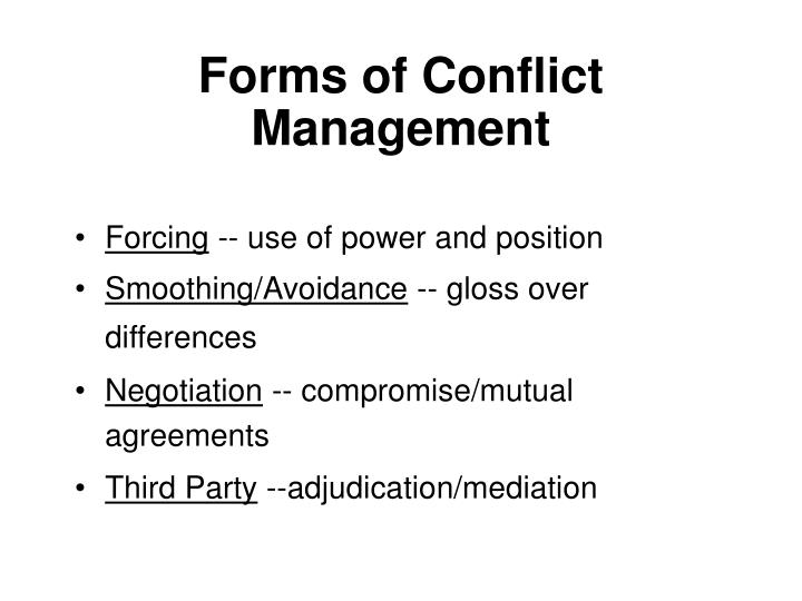 Forms of Conflict Management